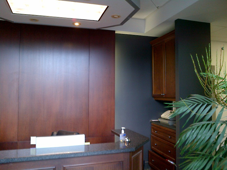 Reception area at 520 Clarke Road, London ON